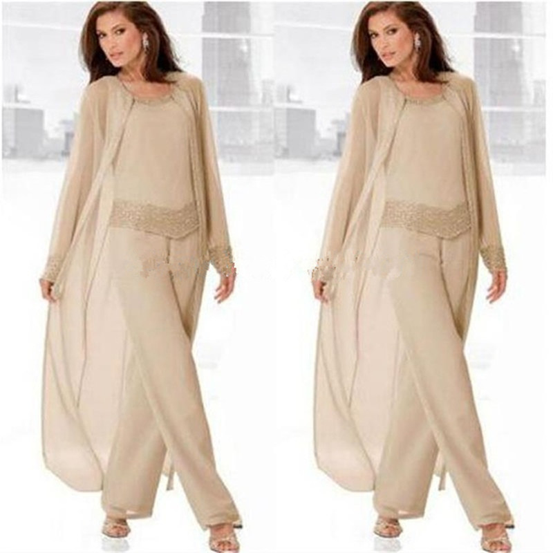 2016 mother of the bride dresses custom made chiffon pants for Dress pant suits for weddings plus size
