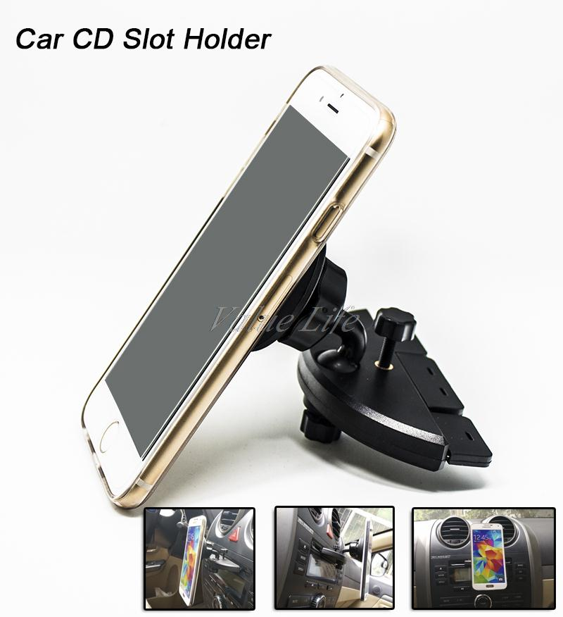 Universal Magnetic Car CD Slot Mount Holder For iPhone 4 5 6,For Samsung NOTE4,For iPad Mini,For GPS,MP4,Hight Quality Bracket(China (Mainland))