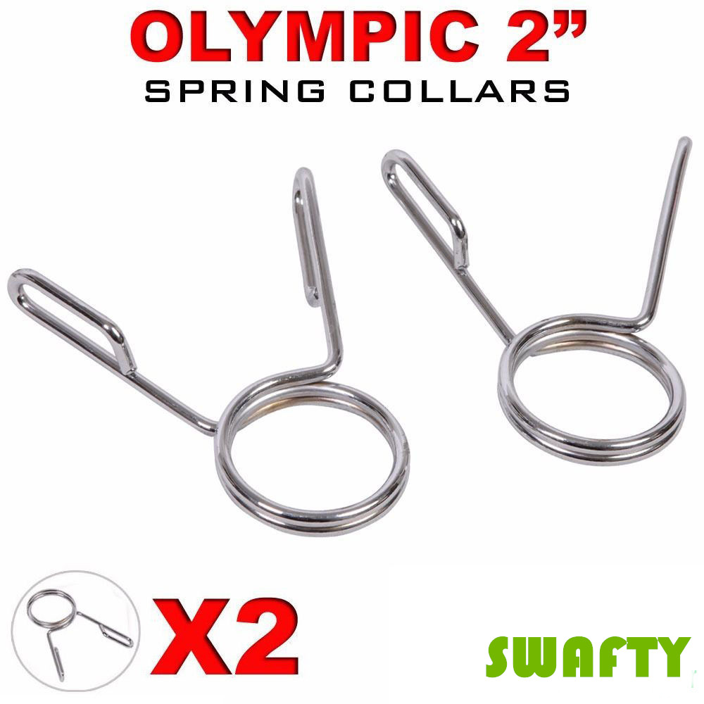 """2 X Olympic 2"""" Spring Collar Weight Bars Clips High Grade Steel Dumbbell Barbell Clamp Bar 50mm Weight Lifting Gym Lock(China (Mainland))"""