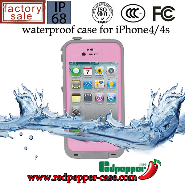 For iphone 4s Redpepper Fashion Brand For iphone 4 4s Durable Swimming water sports Phone Bag For iPhone 4s WaterProof Case(China (Mainland))