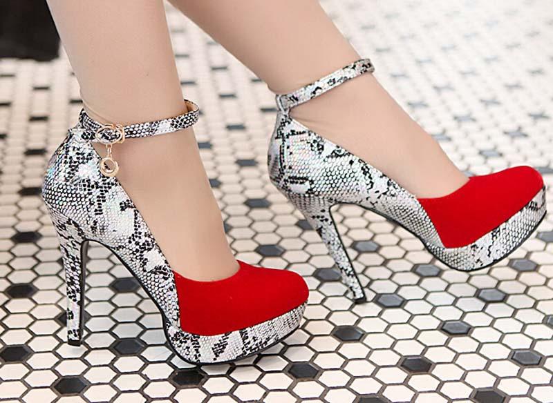 ENMAYER Wholesale Size 34-40 fashion Snakeskin pattern Thin High Heels Pumps Pointed Toe Platform Pumps Women Party Shoes Pumps<br><br>Aliexpress