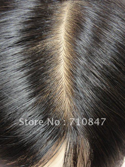 100% indian remy hair thin skin injection men toupee/hair system/ hair pieces men wig free shipping