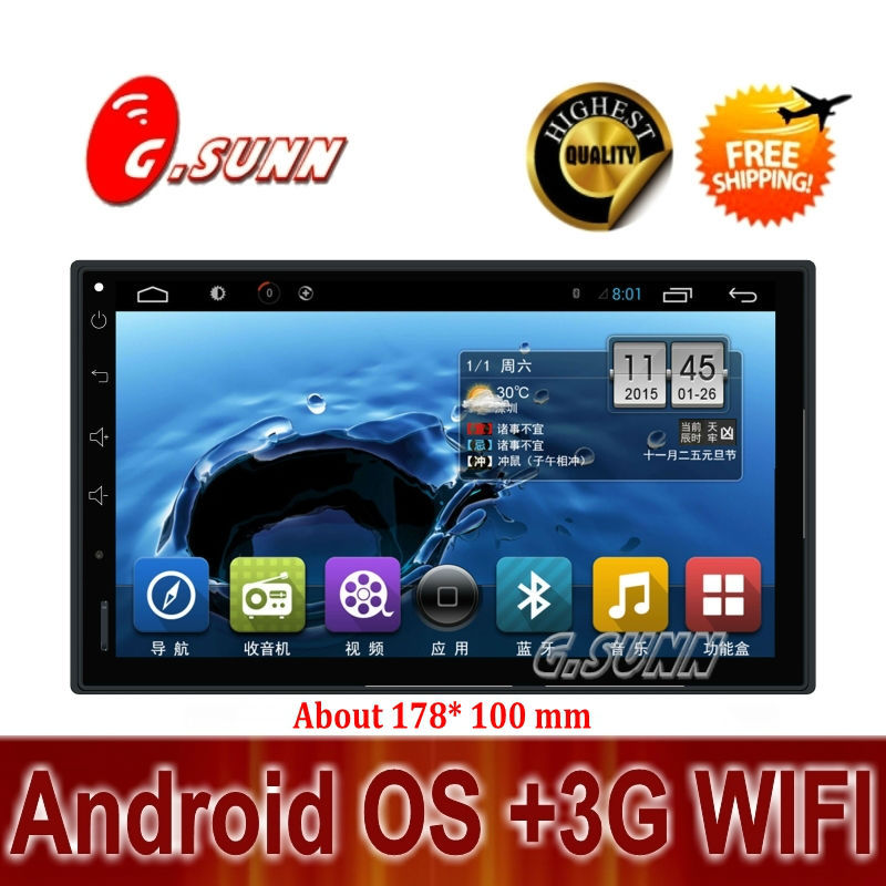 "Free camera gift by EMS Full touch screen 7"" universal android car dvd navi player pc +Wifi+Radio+Bluetooth+3G+car pc+aduio(China (Mainland))"