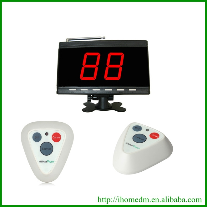 Wireless calling system server paging system 1display 30buttons(China (Mainland))