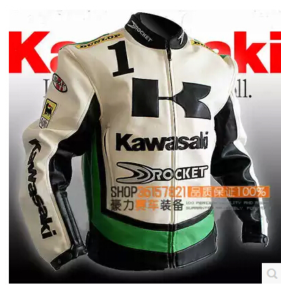 2016 new Kawasaki racing suit male motorcycle clothing motorcycle jacket suit clothes armor vests PU Oxford wear cotton liner(China (Mainland))