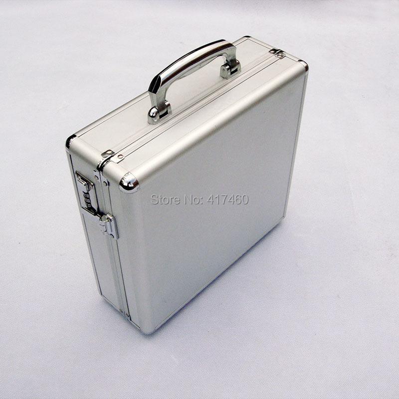 """Upscale lockbox empty suitcase Portable luggage suitcases Aluminum suitcase Big aluminum box file box size:14""""/34*32.5*11.5CM(China (Mainland))"""