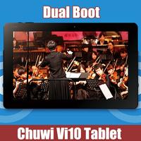 Original Chuwi VI10 intel Z3736F Quad Core Dual Boots 2.0GHZ Tablet PC Windows 8.1(Default)+Android 4.4 2GB RAM 32Gb ROM HDMI