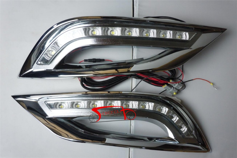 LED Daytime running lights With Turning Signal Light For Hyundai SONATA 8th 2011-2013<br><br>Aliexpress