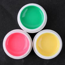 Free Shipping 12 pcs Colors Pure Colour uv gel Uv gel Set Builder Gel for nail
