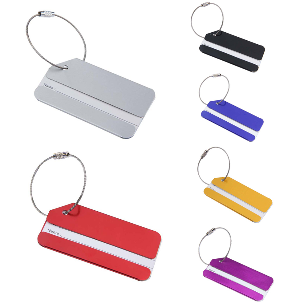 V1NF Aluminium Metal Travel Luggage Baggage Suitcase Tags Label Address Holder Free Shipping(China (Mainland))