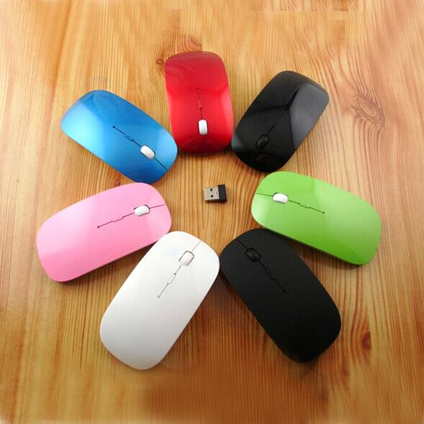 Black or White 10m 2.4G Slim USB Mini Wireless RF Optical Mouse Mice For Laptop PC Mac Macbook HP(China (Mainland))