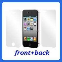 3PC / front + back – HD screen protector for iPhone 4 4S clear screen protective film screen guard with cleaning cloth for gift