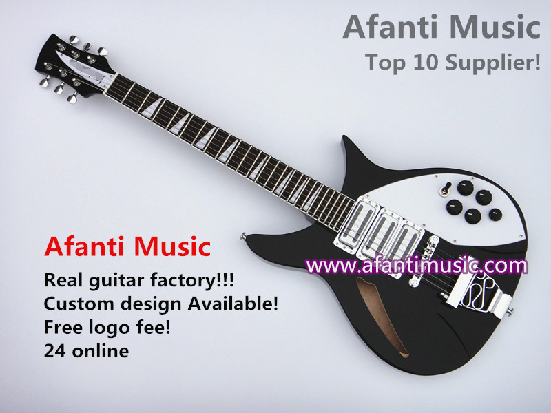 Rickedbacker / Sunburst color/ Mahogany Body/ electric guitar of Afanti Music (ARB-159)<br><br>Aliexpress