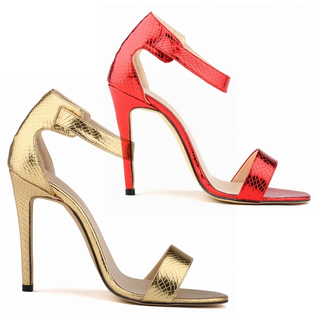 Smynlk-10006f New Arrival 2015 Fashion Women Sexy 11cm High Heels Ankle-wrap Sandals Colorful Heeled Party Shoes Woman Pumps <br><br>Aliexpress