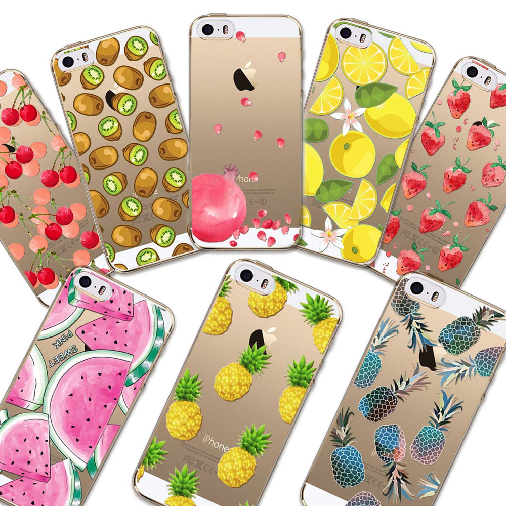 For Cell Phone Watermelon Fruits Case Cover For Apple iPhone 5 5s SE Case Silicone Soft Transparent Case For Mobile Phone(China (Mainland))