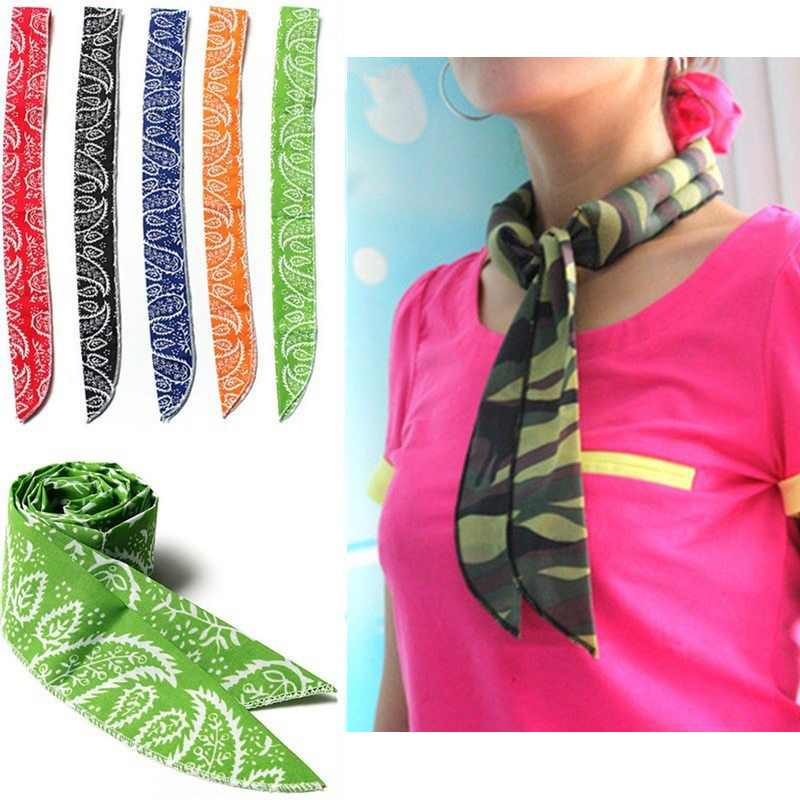 5 Colors Non-toxic Neck Cooler Scarf Body Ice Cool Cooling Wrap Tie Headband Wrist Towel(China (Mainland))