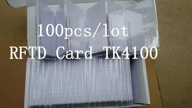 100pcs/lot parking RFID card TK4100 125 kHz RFID card ID card is suitable for access control and attendance(China (Mainland))