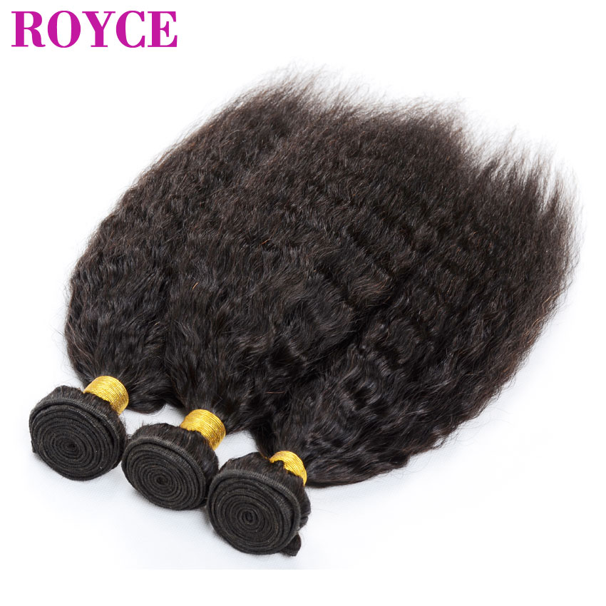 Peruvian Virgin Kinky Straight Hair Weave Coarse Yaki 3pcs Cexxy Hair Italian Yaki Human Hair Kinky Straight Best Hair on Sale