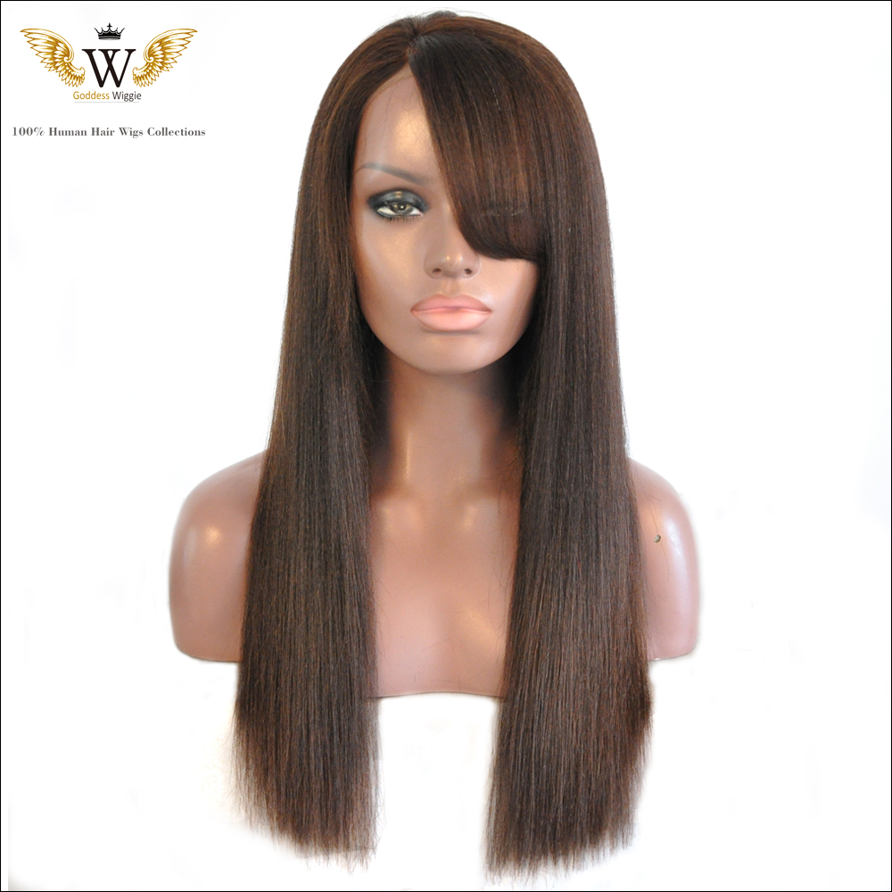 Yaki Full Lace Wigs With Bangs 49