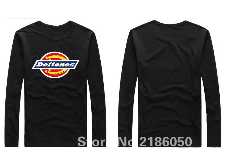 Fashion Deftones 100% Cotton t-shirt male long-sleeve t shirt men new DIY Style high quality(China (Mainland))