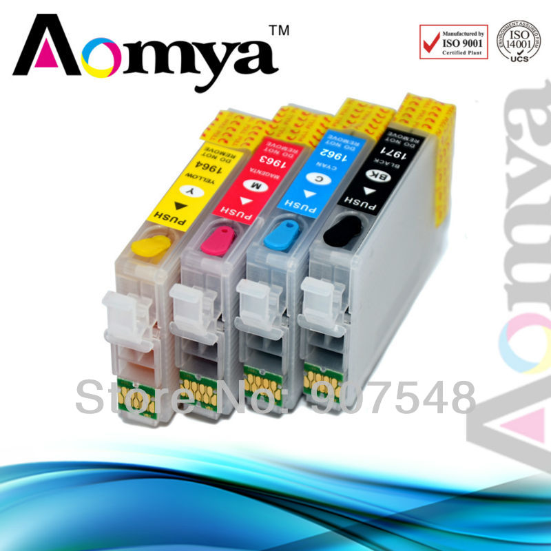 Fast delivery!! wholesales Empty Refillable Ink Cartridge  T1971-T1974 for Epson XP-201/101/204/214<br><br>Aliexpress