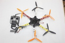 F05114-AJ DIY Drone F550 Hexa-Rotor Full Kit 1045 3-Propeller 6axle Multi QuadCopter UFO With Tall Landing Gear 10ch TX / RX
