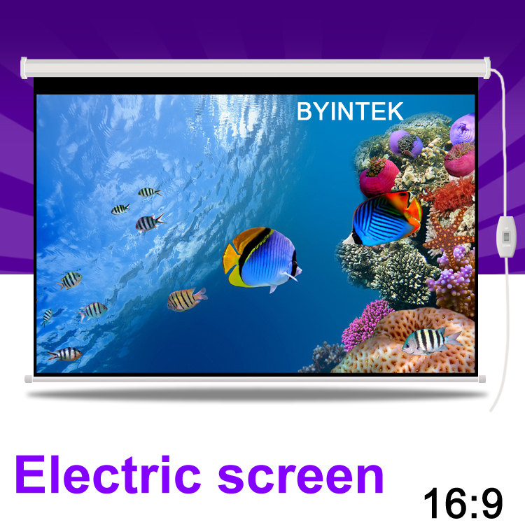 Glass beaded Home Cinema 77inch 16:9 Electric Synchronous Motorized Projection HD LCD LED DLP Projector Screen Free Shipping<br><br>Aliexpress