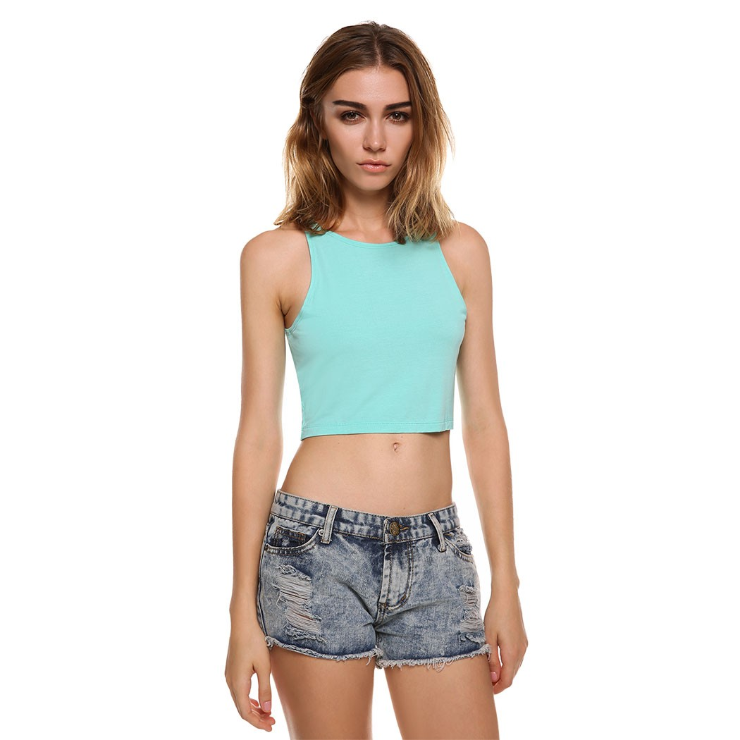 Professional fitness sports t shirt women tight cropped for Tight t shirt crop top