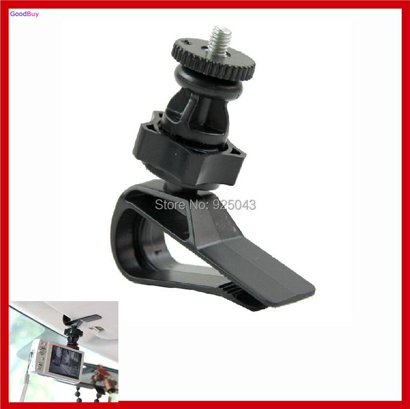 New Rotate CAR Sun shield GPS DVR DV Camera Clip Mount Auto Sun-Shade Camerra mount with 1/4 interface Screw Head(China (Mainland))