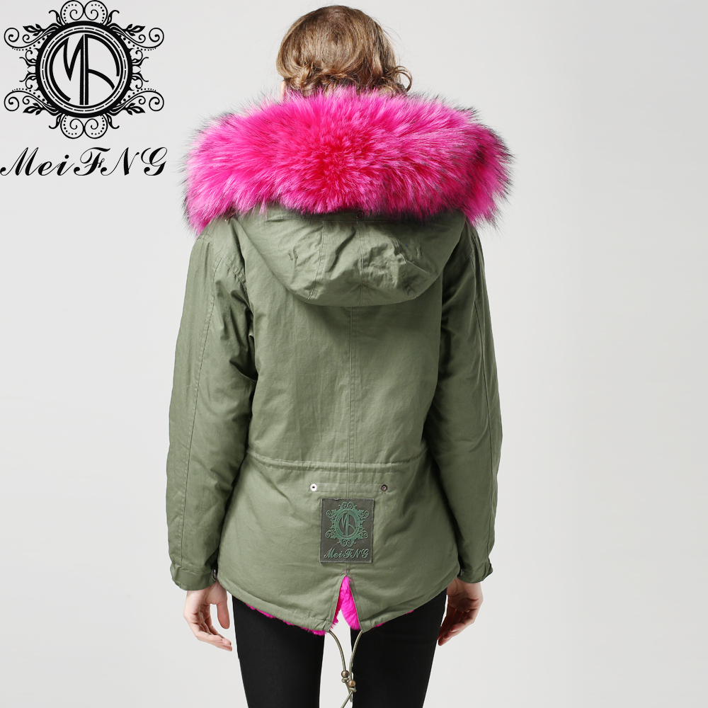 Green Parka With Fur Hood Photo Album - Reikian