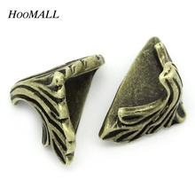 Hoomall 30PCs Book Scrapbooking Albums Folders Corner Protectors Metal Box Case Corner Bronze Tone 19mm x 11mm(China (Mainland))