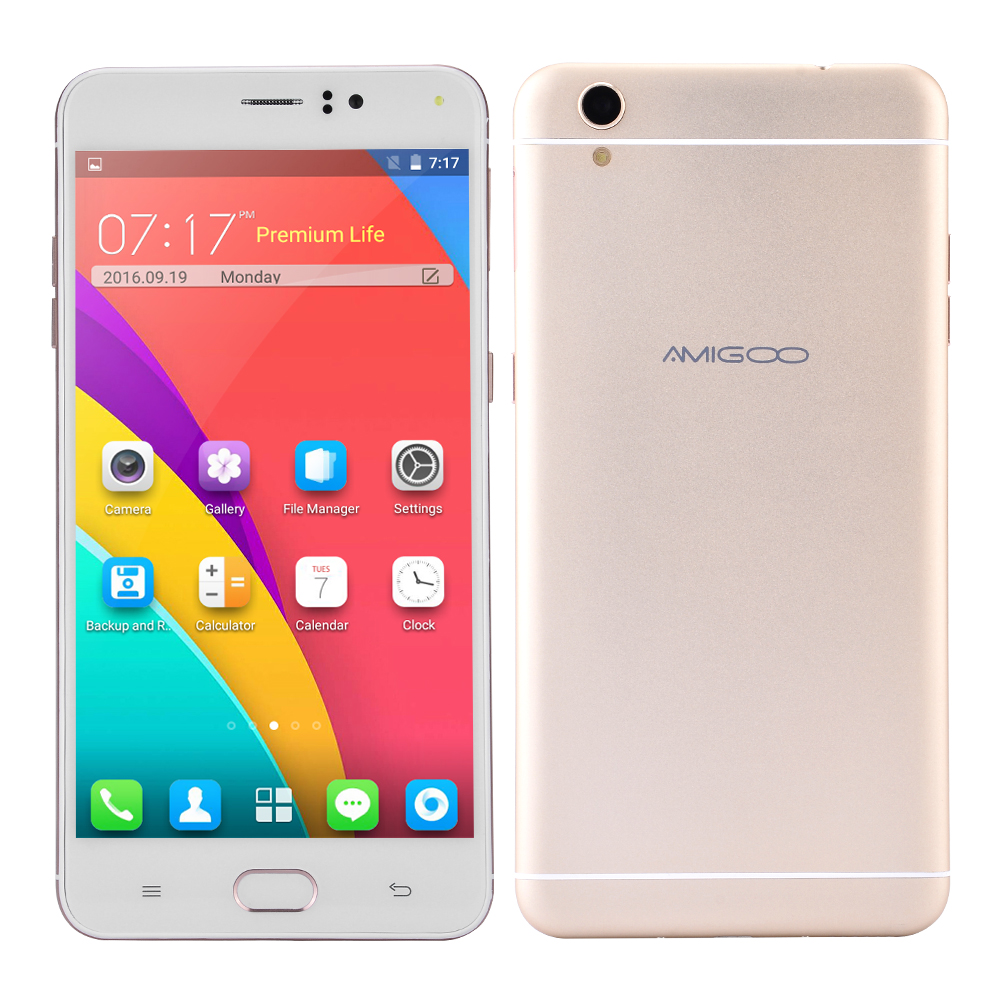 Original AMIGOO R9 Max Cell Phone MTK6580 Quad Core Android 5.1 Smartphone 6.0'' Metal Shell 1GB RAM 8GB ROM 8.0MP Mobile Phone(China (Mainland))
