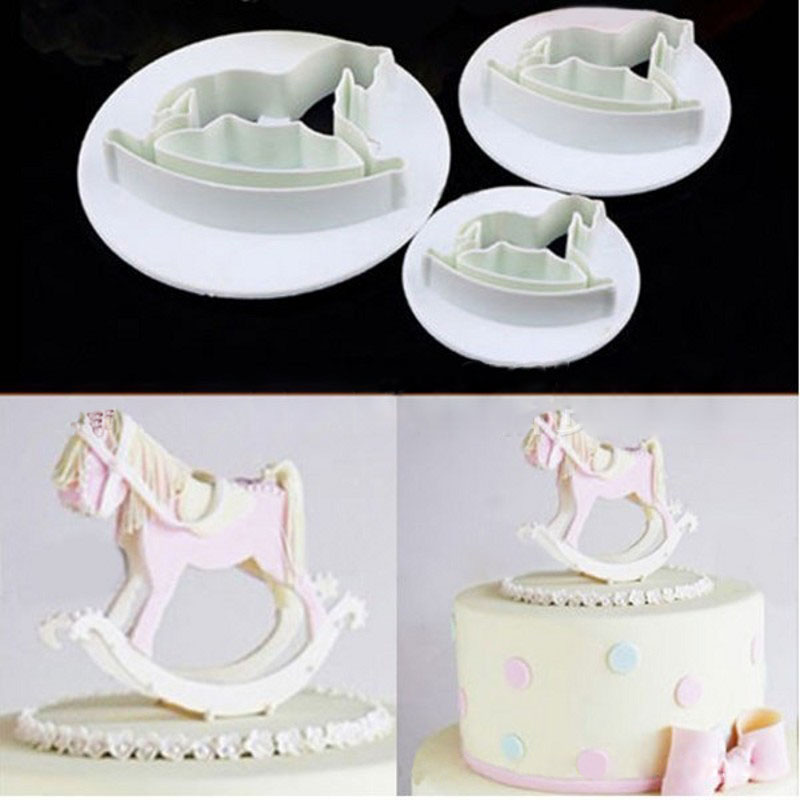 DIY Cake Fondant Mold High Cutter cute Trojans horse cake Accessories cake Mold baking tools for child cakes kitchen accessories(China (Mainland))