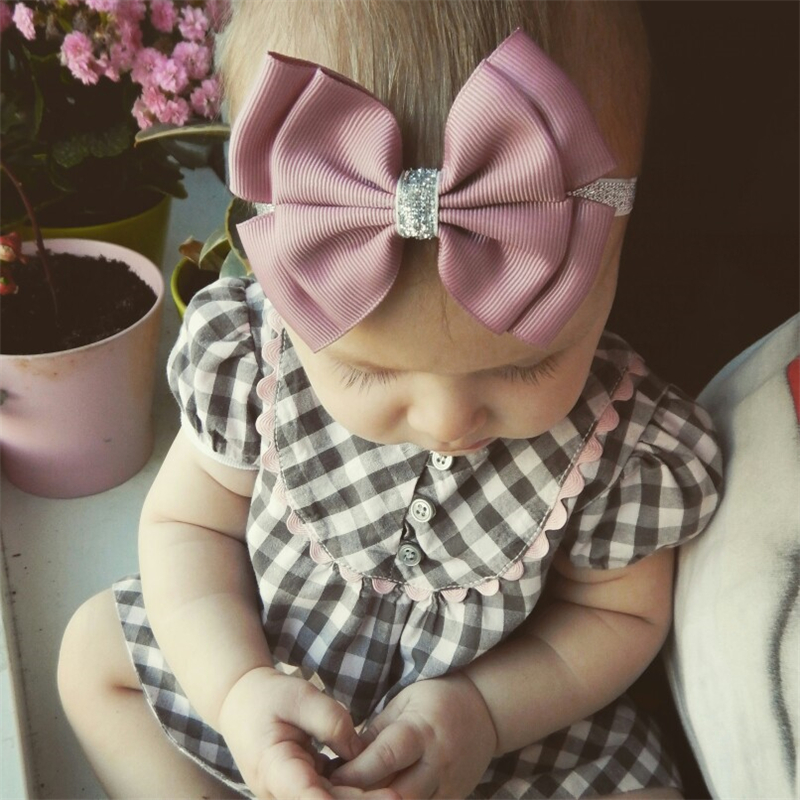 22 color new Baby hair bow flower Headband Silver ribbon Hair Band Handmade DIY hair accessories for children newborn toddler(China (Mainland))