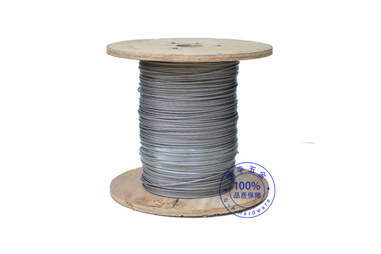 1.5mm coated to 2mm transparent PVC factory direct supply 304 7*7 stainless steel 1.5mm transparent PVC coated to 2mm wire rope(China (Mainland))