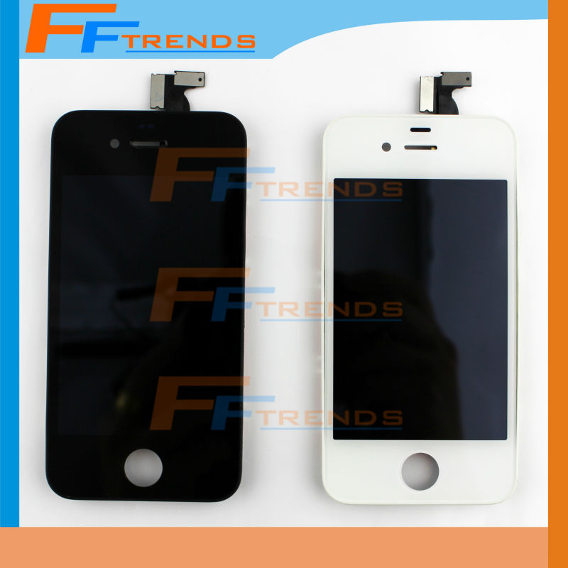20pcs/lot LCD Screen Assembly for iPhone 4 Black White LCD + Touch Screen Digitizer with Frame Free DHL Shipping(China (Mainland))