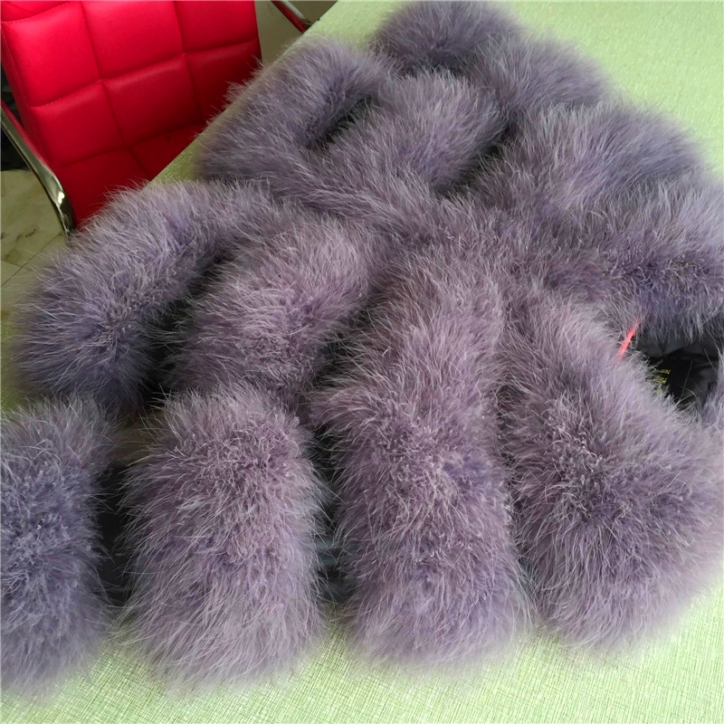 2016 spring new real genuine natural ostrich feather font b coat b font font b women