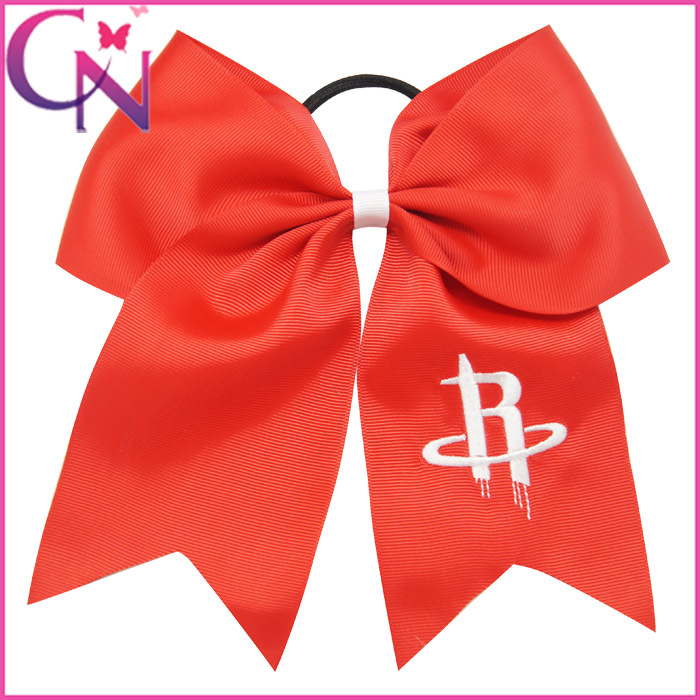 10PCS MinOrder$15 4color Avaliable 7 inch Cheerleader Jumbo Basketball CheerBow Ponytail Holder HairBow+Elastic For Kids/Girls(China (Mainland))