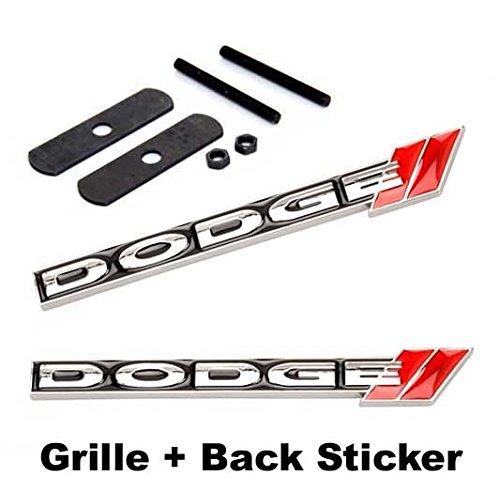 2pcs Sets DOD GE Front Grille + Back Sticker Car Emblem Badge For Ram AVENGER CHARGER CHALLENGER Durango JOURNEY GRAND CARAVAN(China (Mainland))