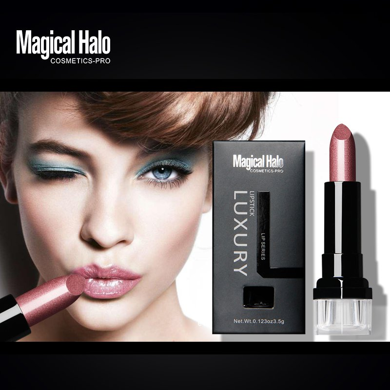 New Arrival Makeup Waterproof Long Lasting Lipstick Vampire Style Makeup Black Grape Purple Lip Gloss Magical Halo Brand