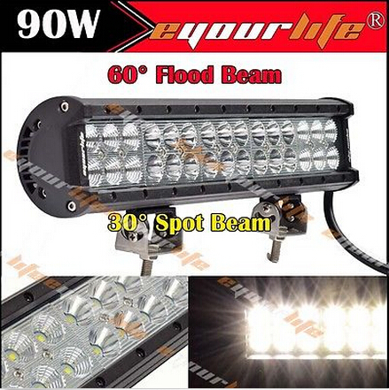 EYOURLIFE 90W 14/inch Flood Spot LED Work Light Combo Bar 4X4 OffRoad BMID<br><br>Aliexpress