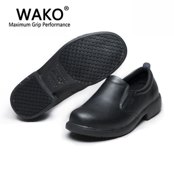 Wako shoes Chef casual work shoes men's non-slip shoes genuine leather shoes clogs for men gfl9802