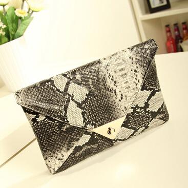 New Fashion Women Leather Handbag Vintage Snake Grain Designer Luxury Female Purse High Quality Women Day Clutch Hot Sale LJ684(China (Mainland))