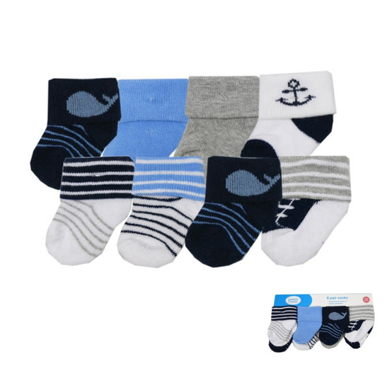 High Quality eight Pcs Cotton Child Socks Rattle Toy Socks Stunning Animal Lovely Comic strip Casual Child Socks Newborn zero-3 Monthes Meias (2)