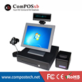 Free Shipping 15 inch Epos Cashier Register System All In One Pc pos terminal For restaurant