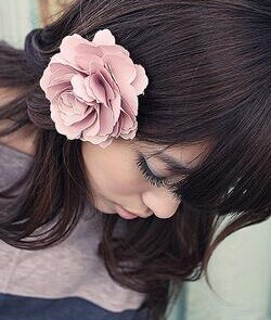 OH0042 sweet romantic corsage, super soft large flower hair clips(China (Mainland))