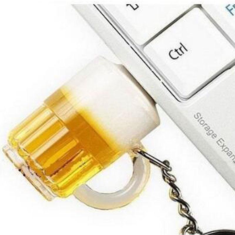 2016 new arrival beer cup model pen drive keychain usb stick 4GB 8GB 16GB 32GB 64GB