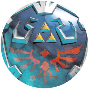Legend of Zelda Syward Sword Hylian shield Skyloft shield inspired glass cabochon dome pendant necklace(China (Mainland))