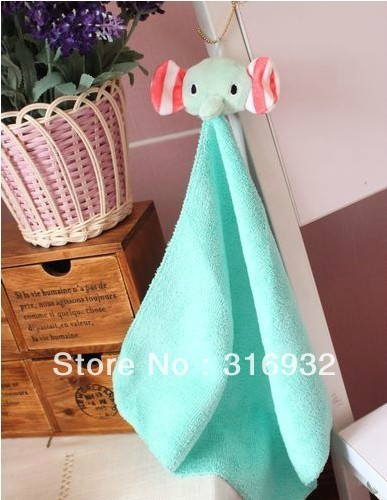 P1 Free Shipping sentimental circus elephant mouton creative hanging Towel, 2pcs/lot