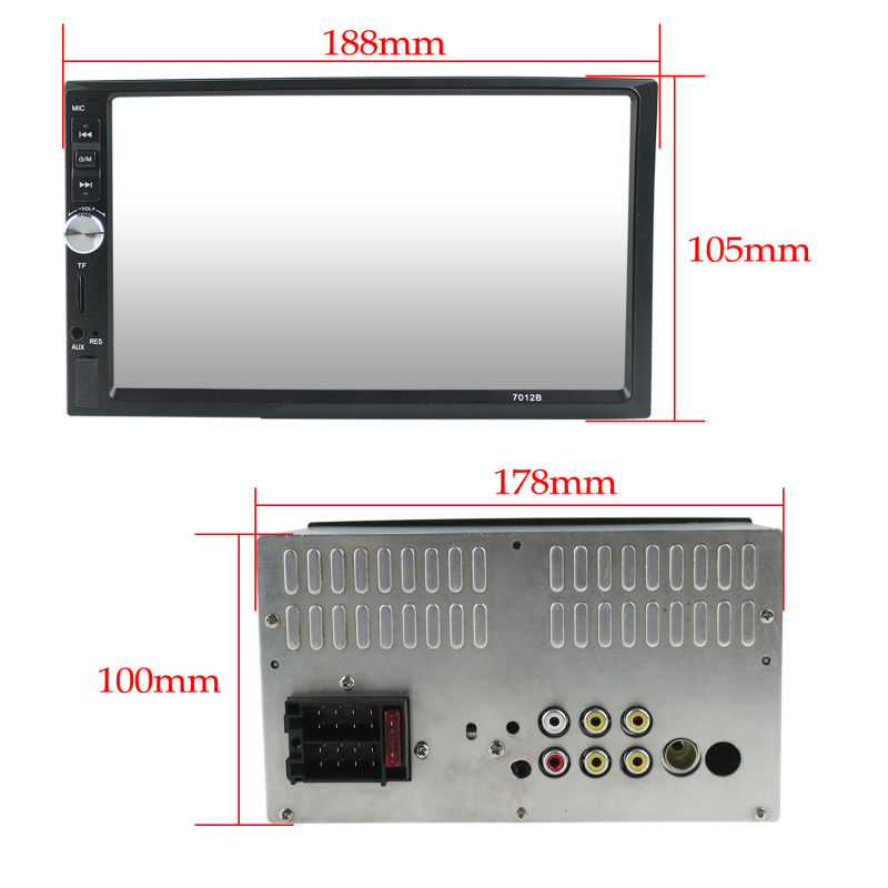 2 Din 7 inch MP5 fixed panel car MP5 with HD touch screen /reversing camera bluetooth/remote/FM AM universal Car multimedia MP5
